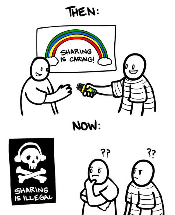 Sharing is illegal :D
