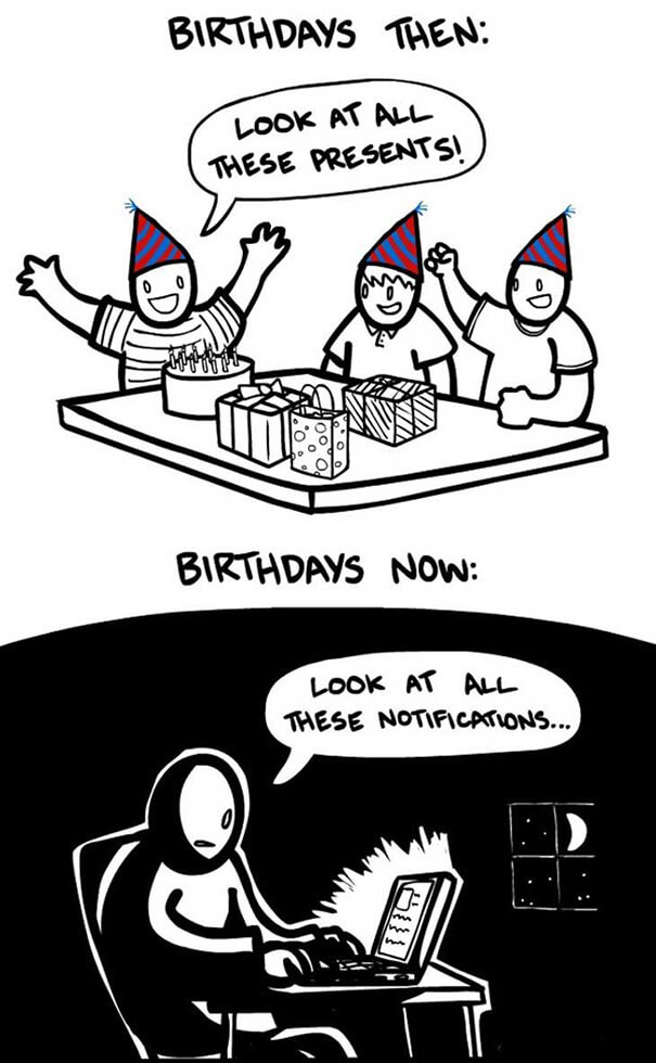 Birthdays Then and now.