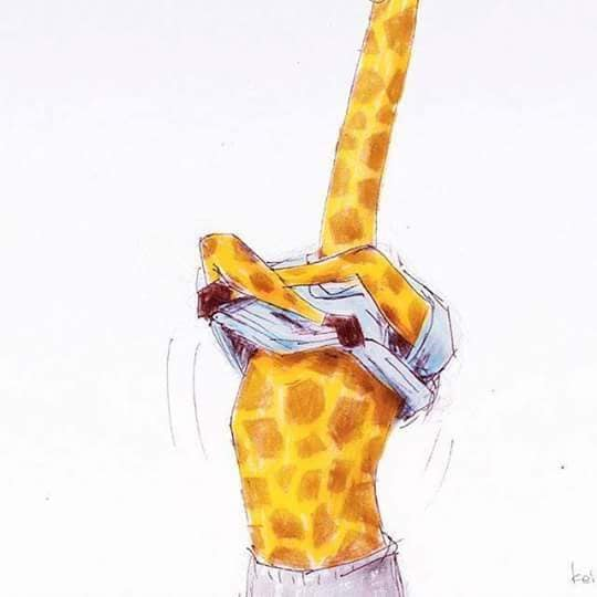 28 Funny Illustrations Of Living As a Giraffe
