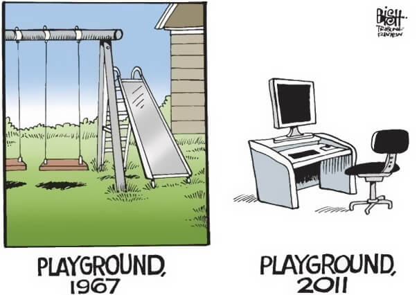 Playground in 1967 and 2011