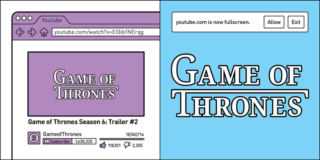 2 types of people watching game of thrones