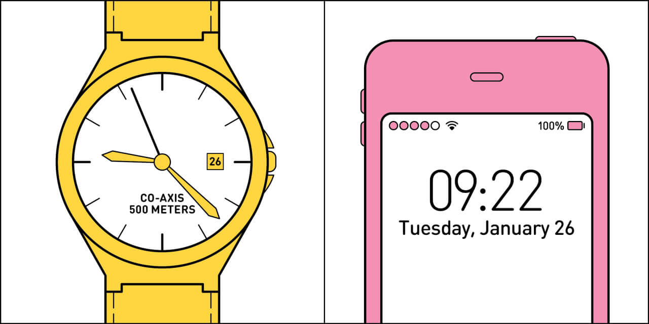 Two Kinds Of People In The World checking the time