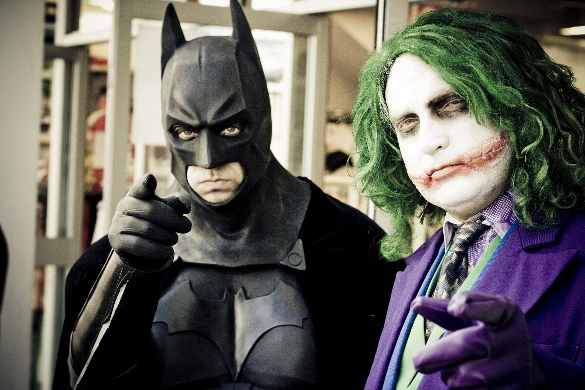 Batman Joker funny halloween costume for couple