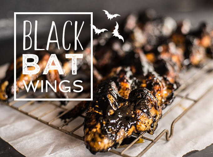 Black Bat Wings Halloween food ideas