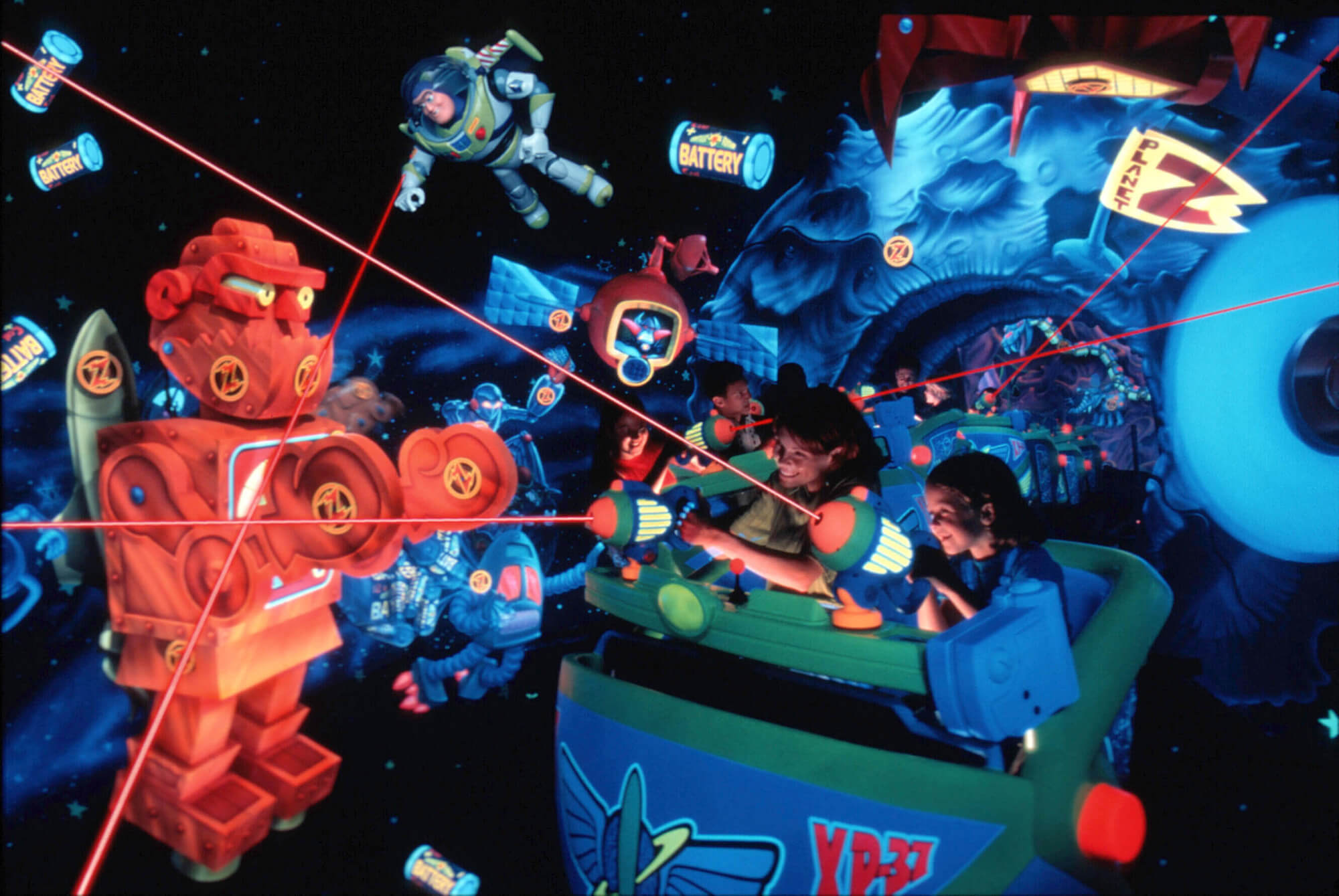 Buzz Lightyear Astro Blasters Things to do in disneyland