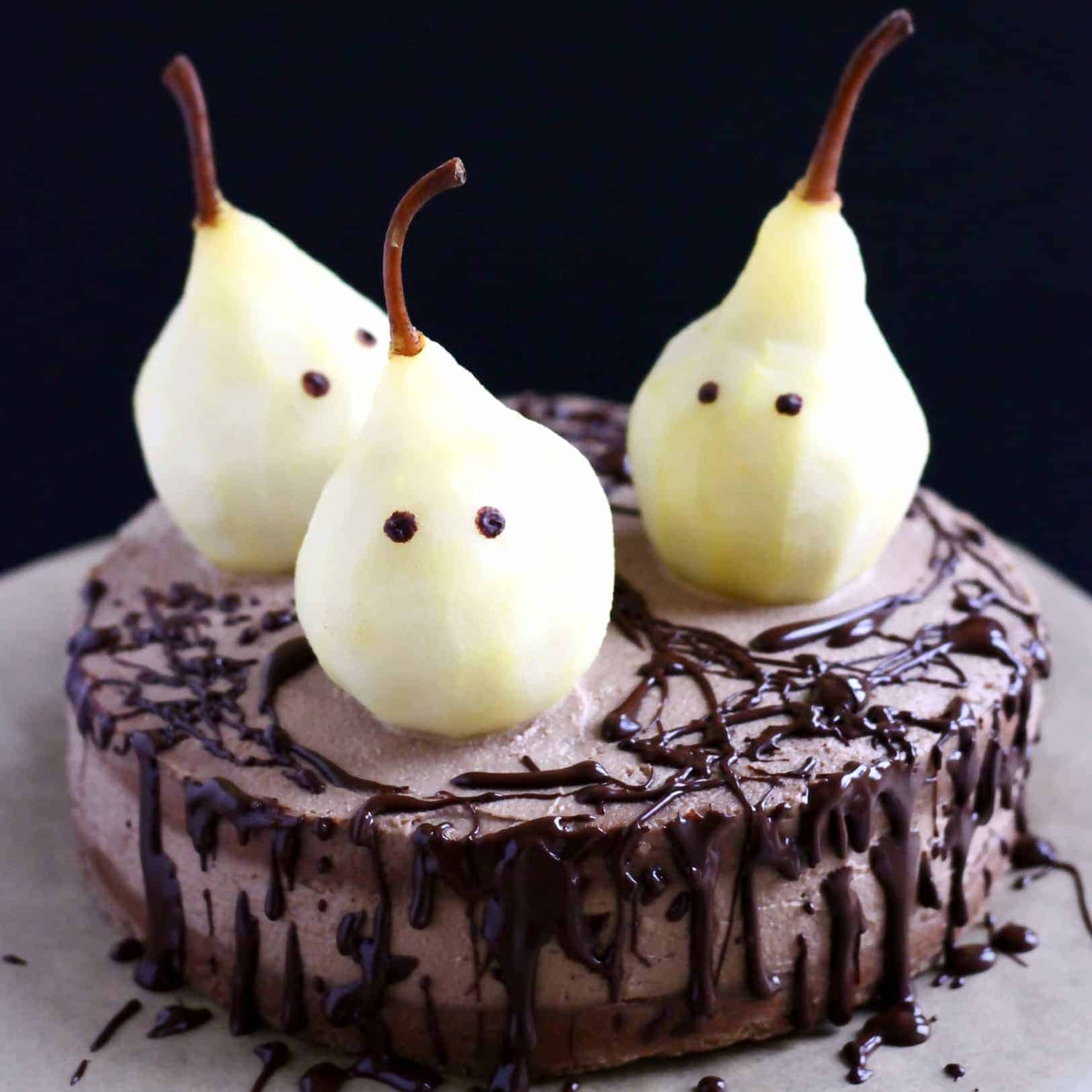 GLUTEN FREE VEGAN HALLOWEEN GHOST CAKE halloween food ideas