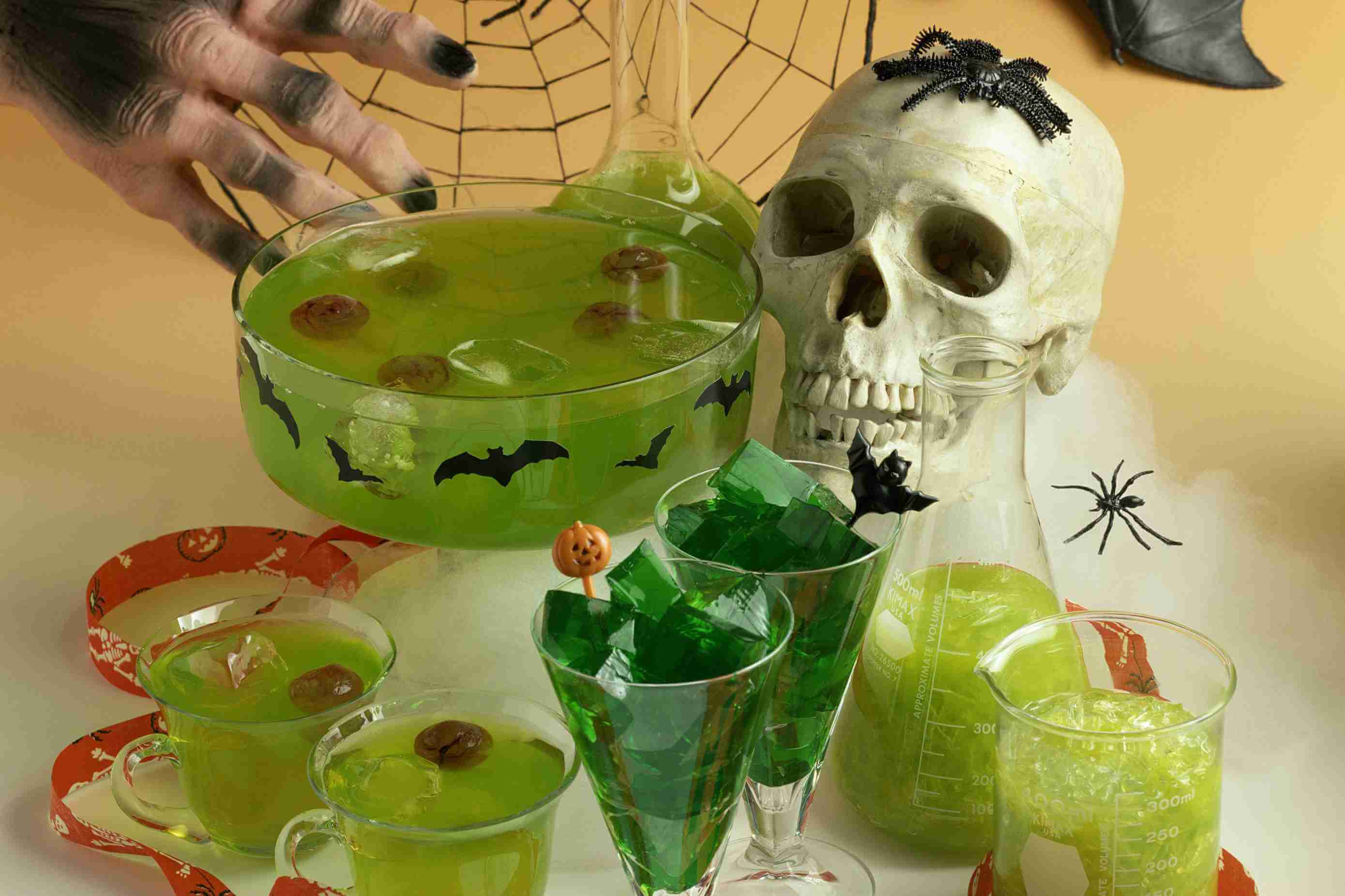 Halloween Punch Recipe With a Floating Brain halloween food ideas