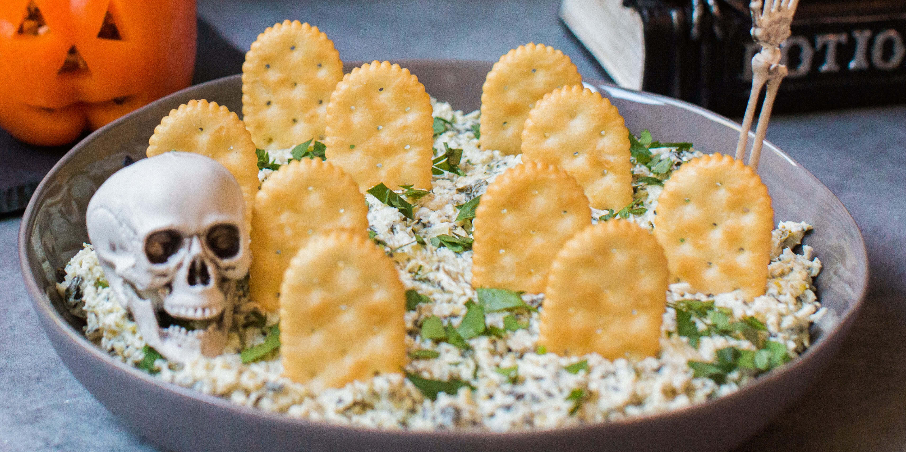 Hot Spinach and Artichoke Dip halloween food ideas