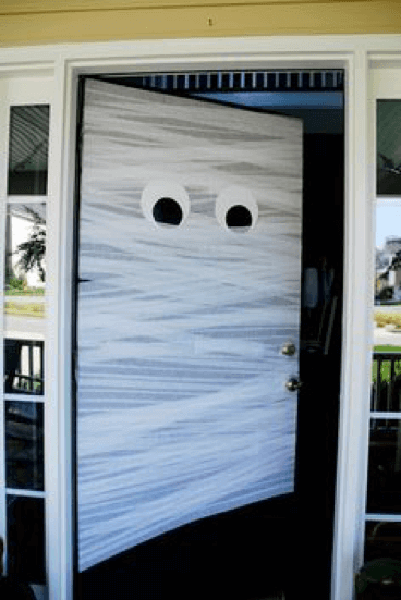 Mummy front door.