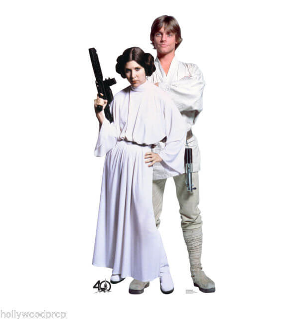 Star Wars Luke Skywalker Princess Leia Halloween Costumes couple funny