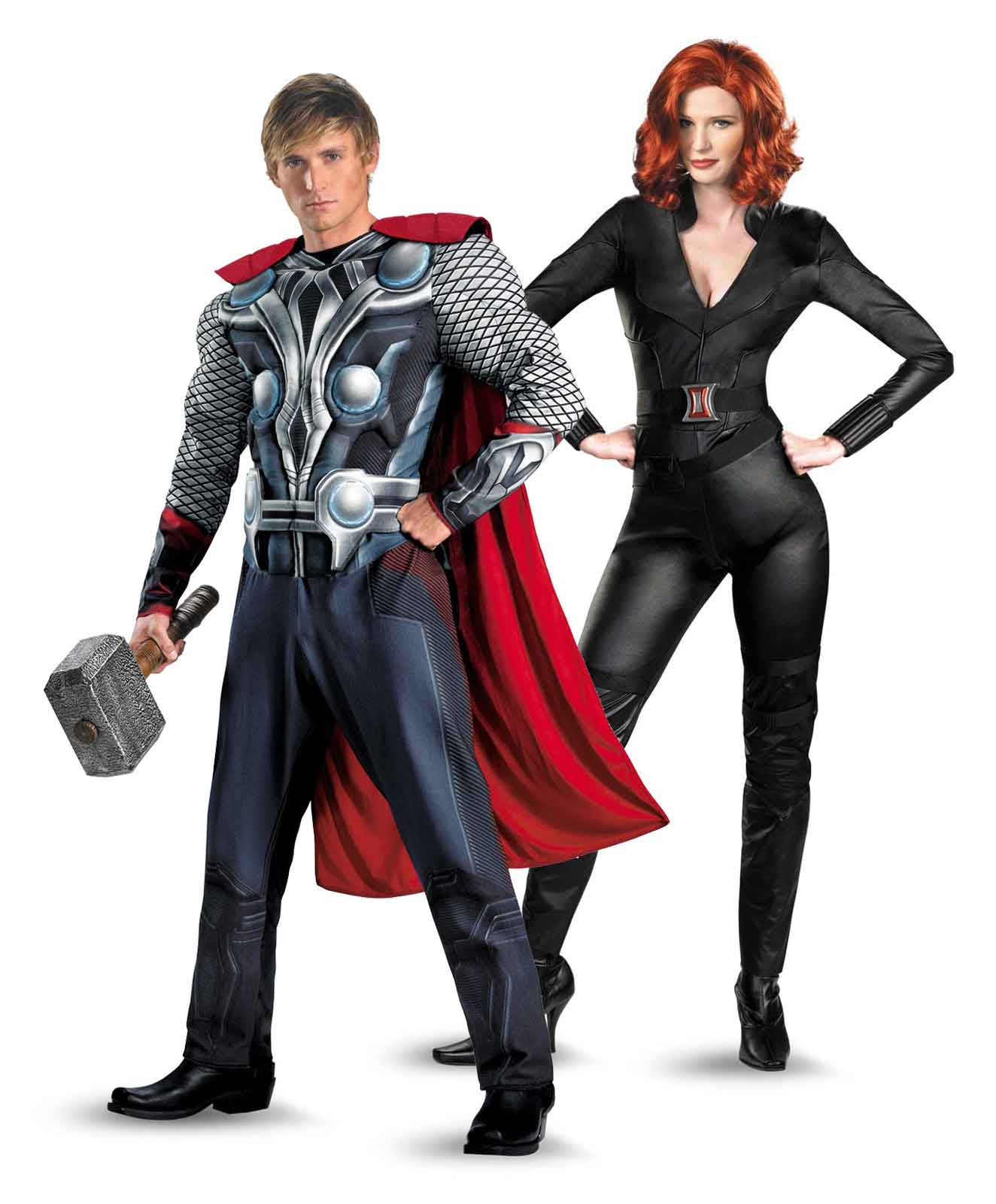 Thor and Black Widow funny halloween costume for couple