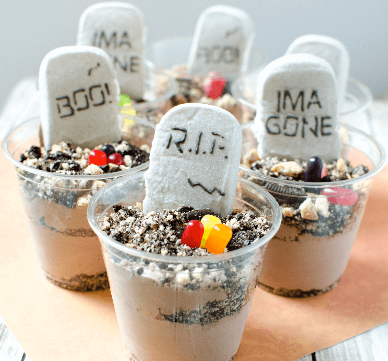 Tombstone Dessert for Halloween halloween food ideas