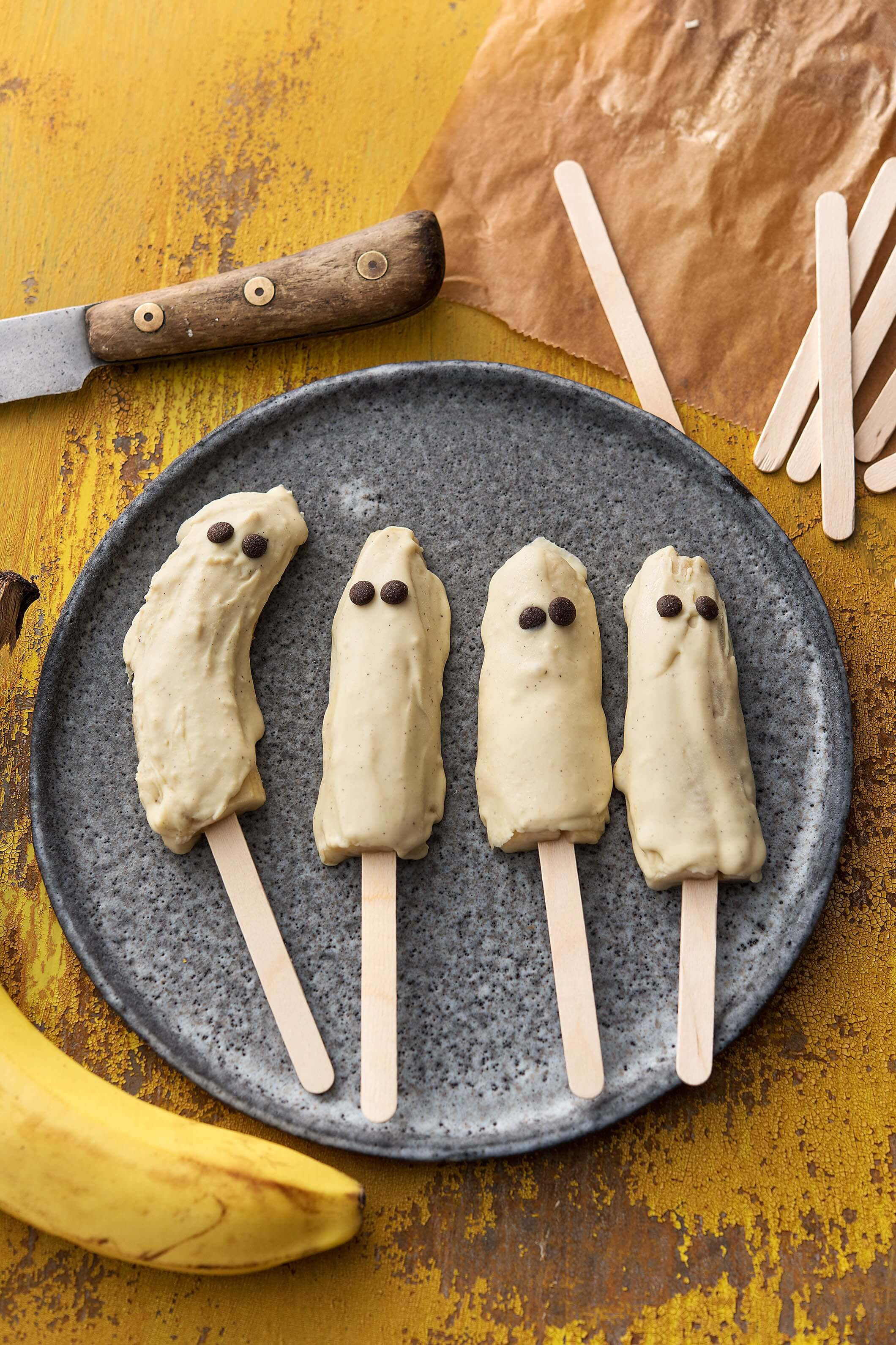Banana Ice Cream Halloween food ideas
