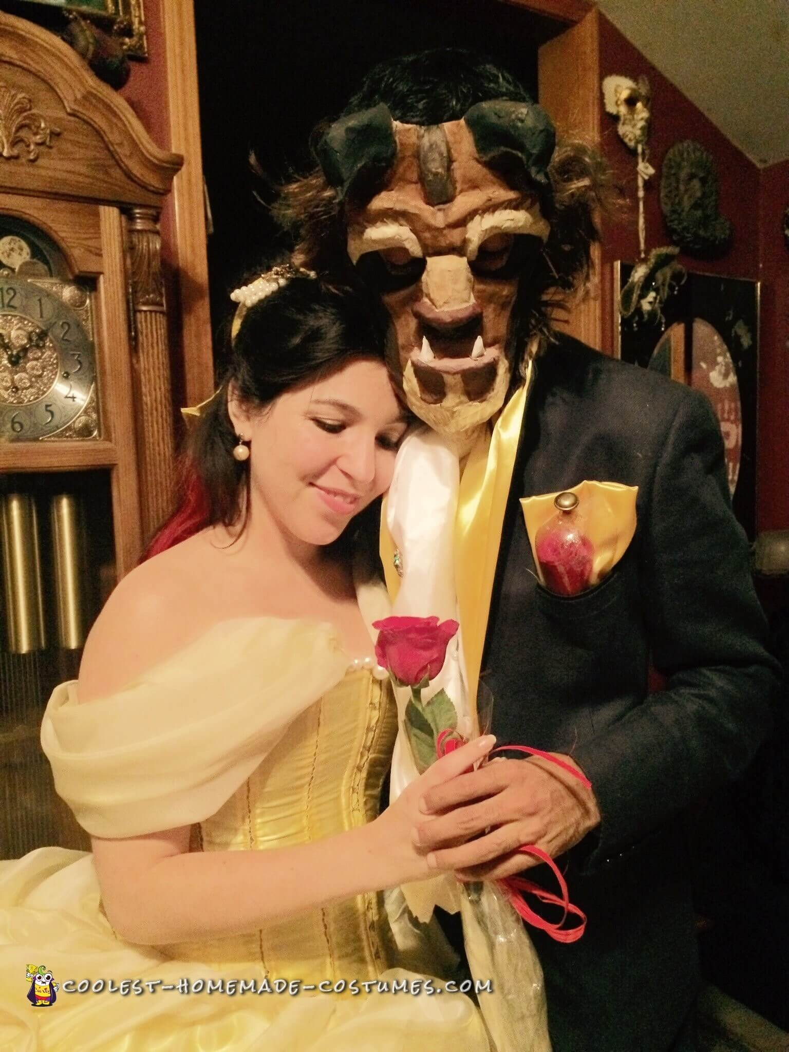 beauty and the beast funny halloween costume for couple