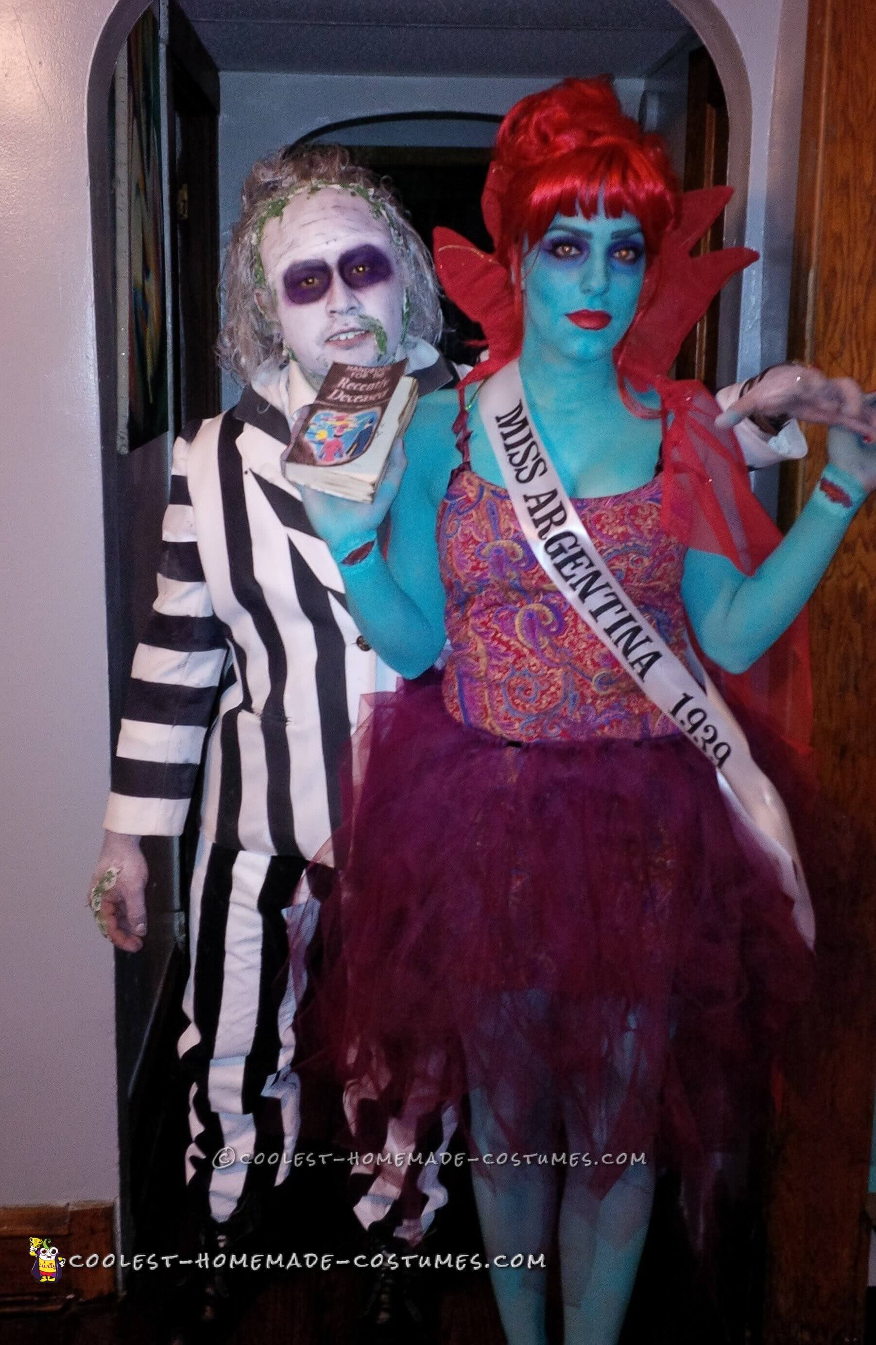 beetlejuice and miss argentina funny halloween costume for couple