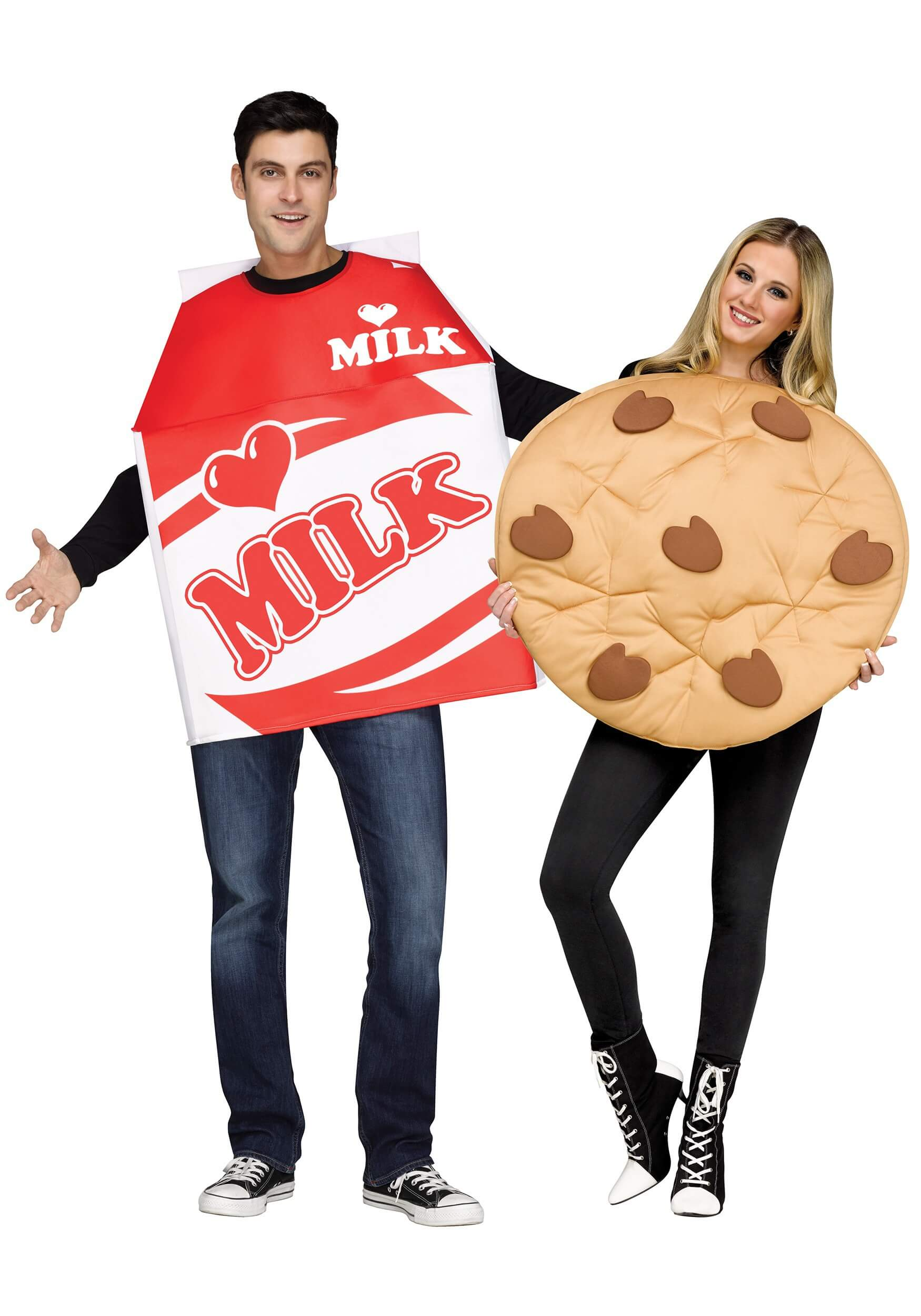 cookies and milk costume funny halloween costume for couple