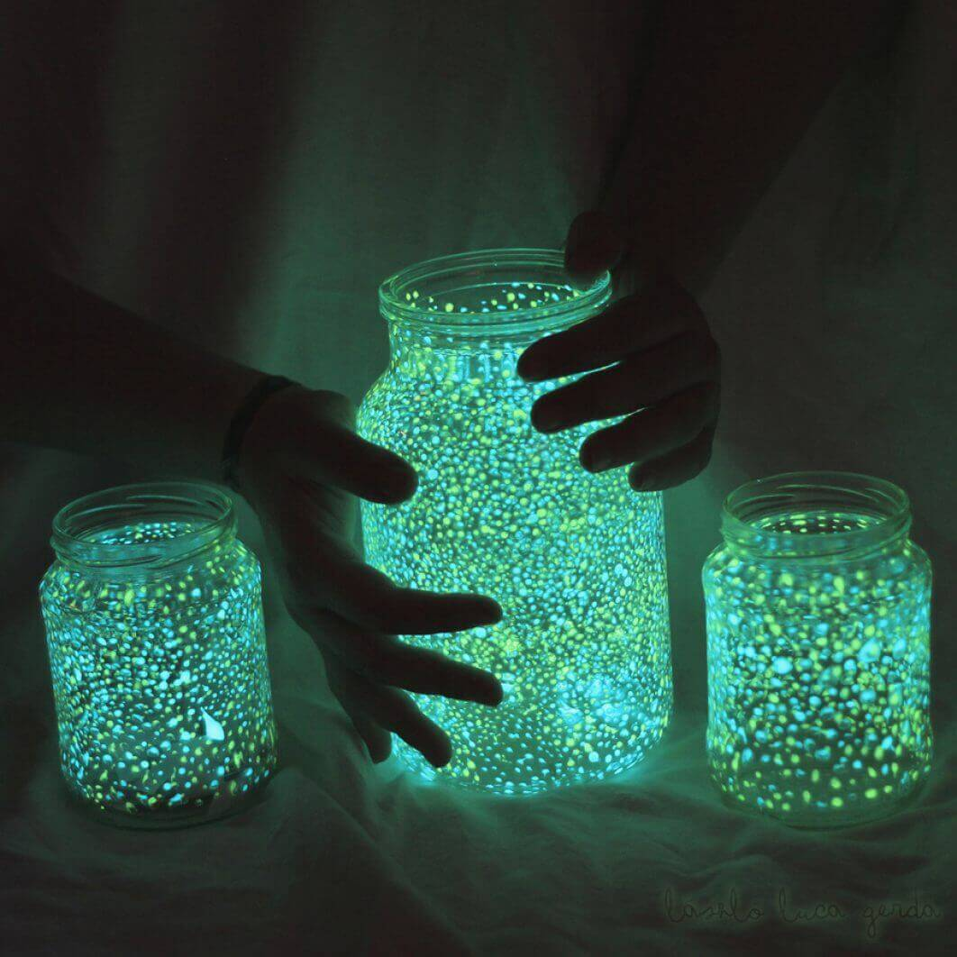 Create glow in the dark mason jars.