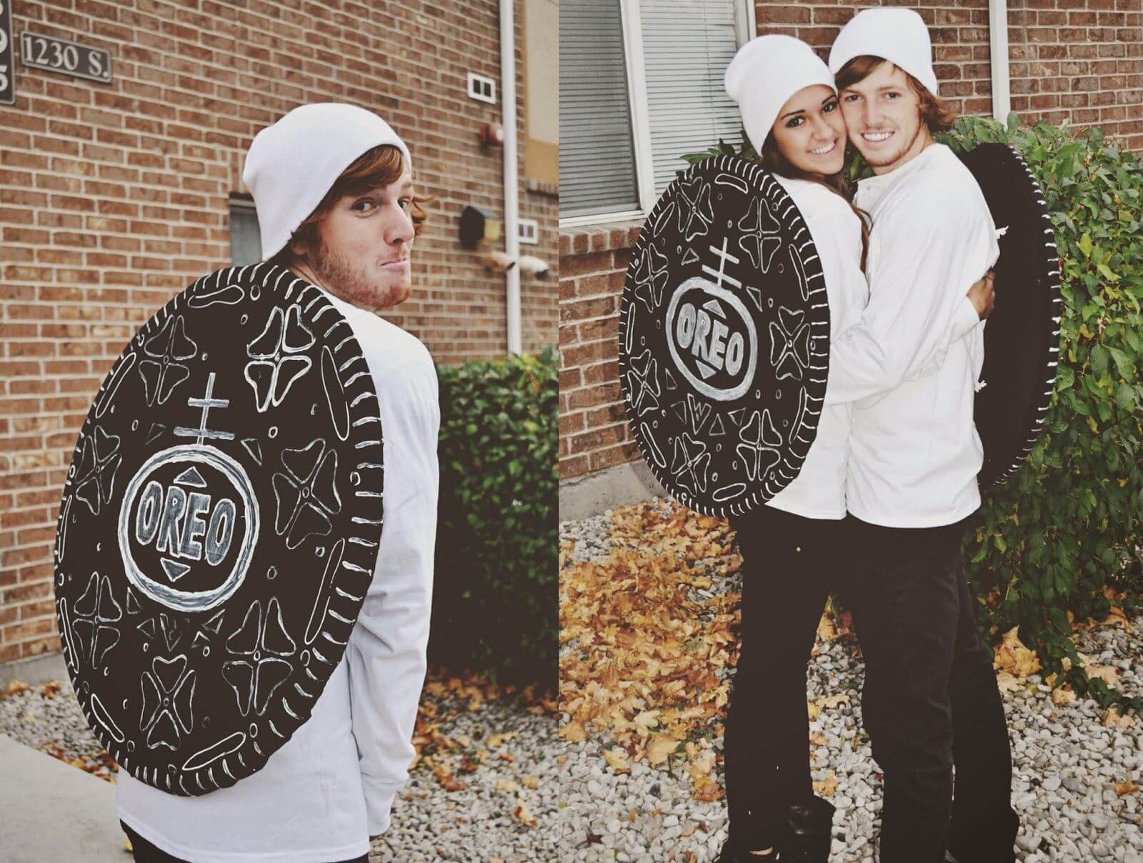 cute oreo couple funny halloween costume for couple