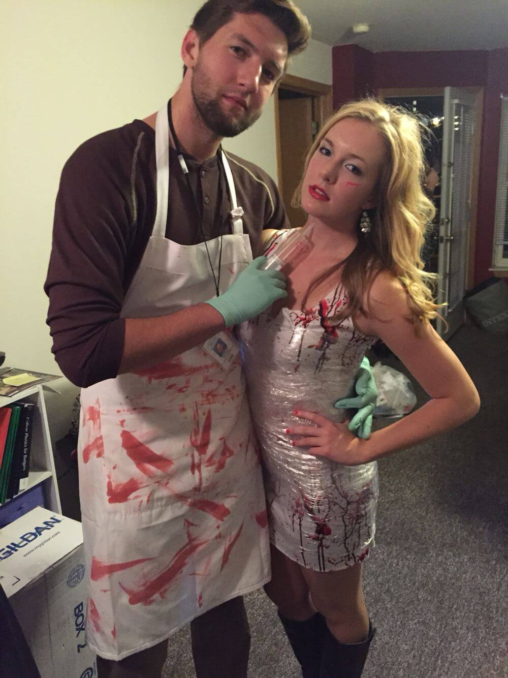 dexter and victim funny halloween costume for couple