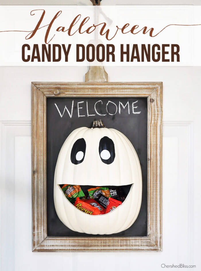 Diy halloween candy door hanger + recipe.