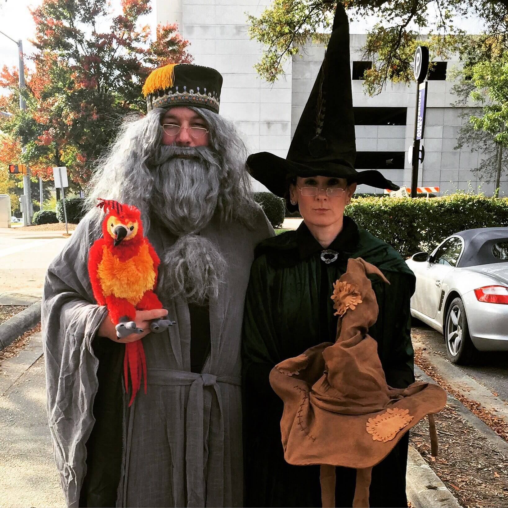 dumbledore macgonagall funny halloween costume for couple