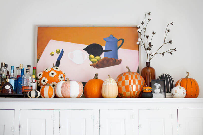 Easy no-carve pumpkin ideas.