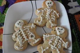 funny skeleton cookie halloween food ideas