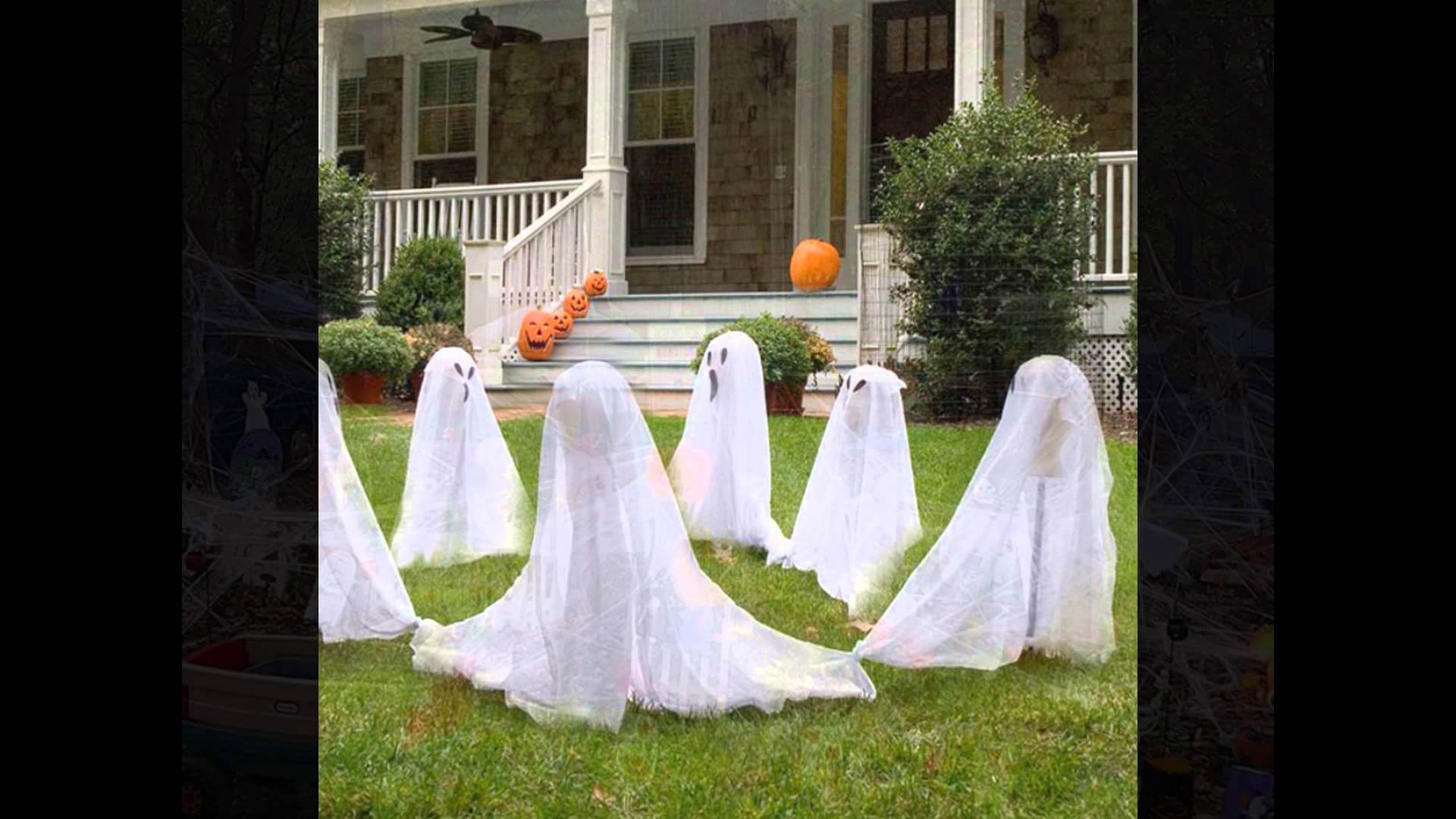 Ghost get together in the garden Halloween decoration