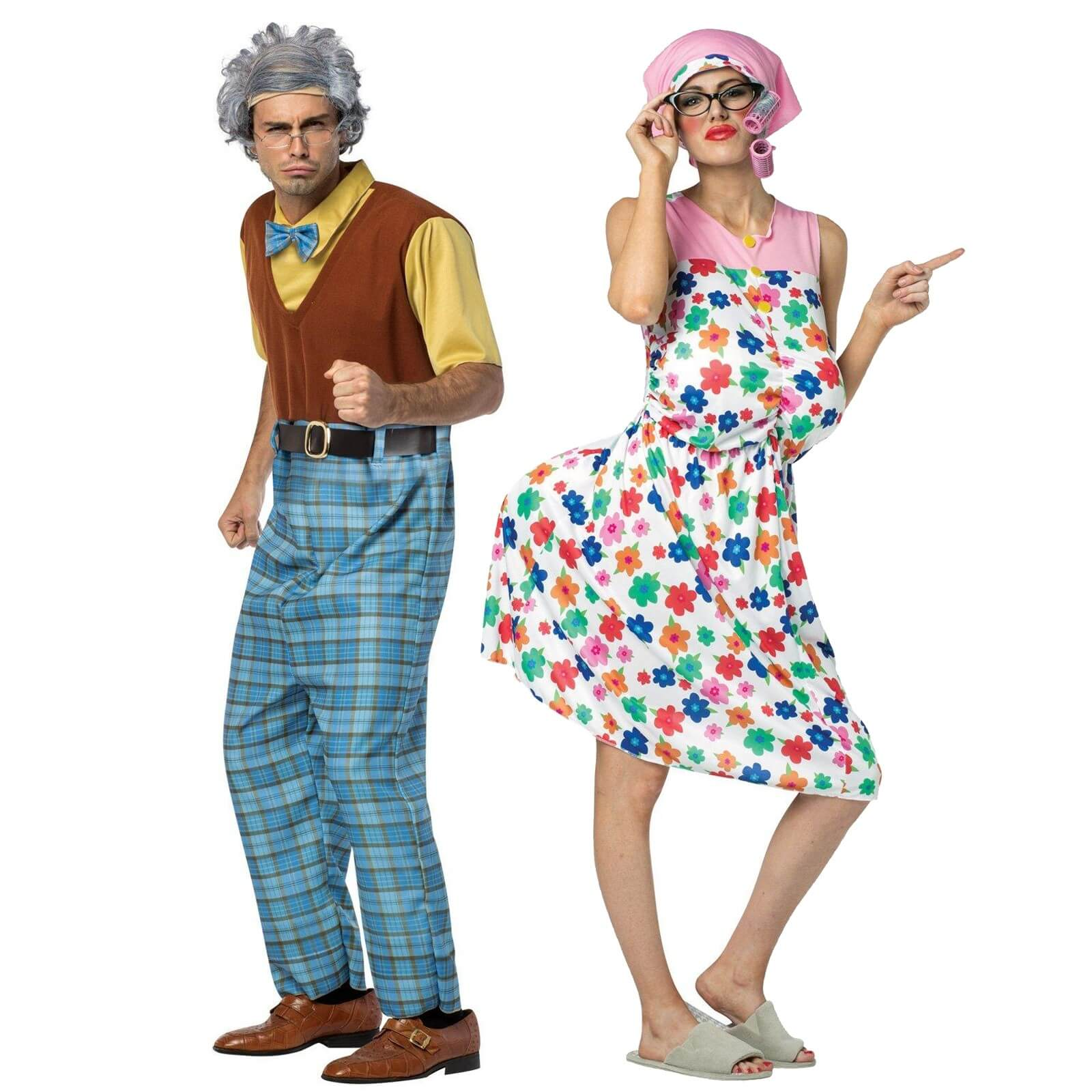 gradma grandpaa funny halloween costume for couple