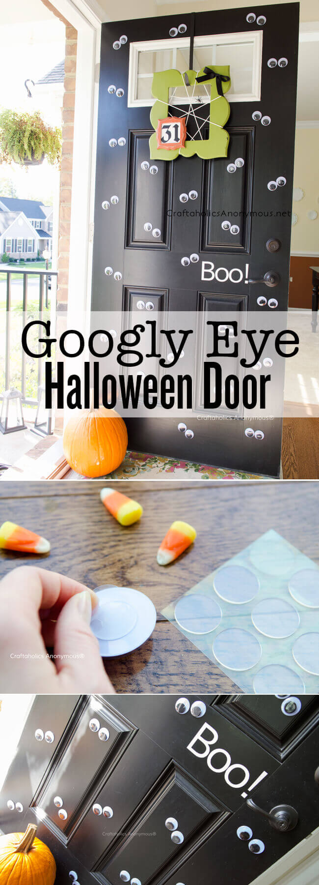 Halloween googly eye door.