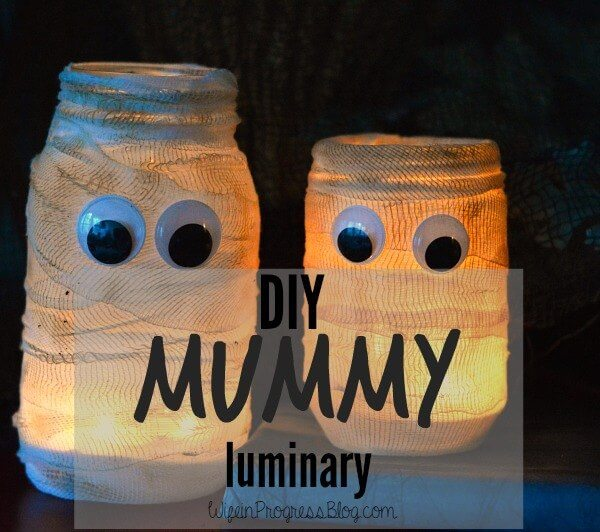 Halloween Mummy Luminary.