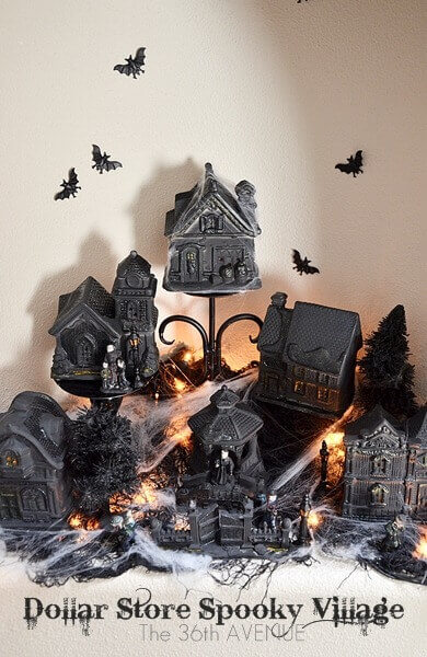 Halloween village.