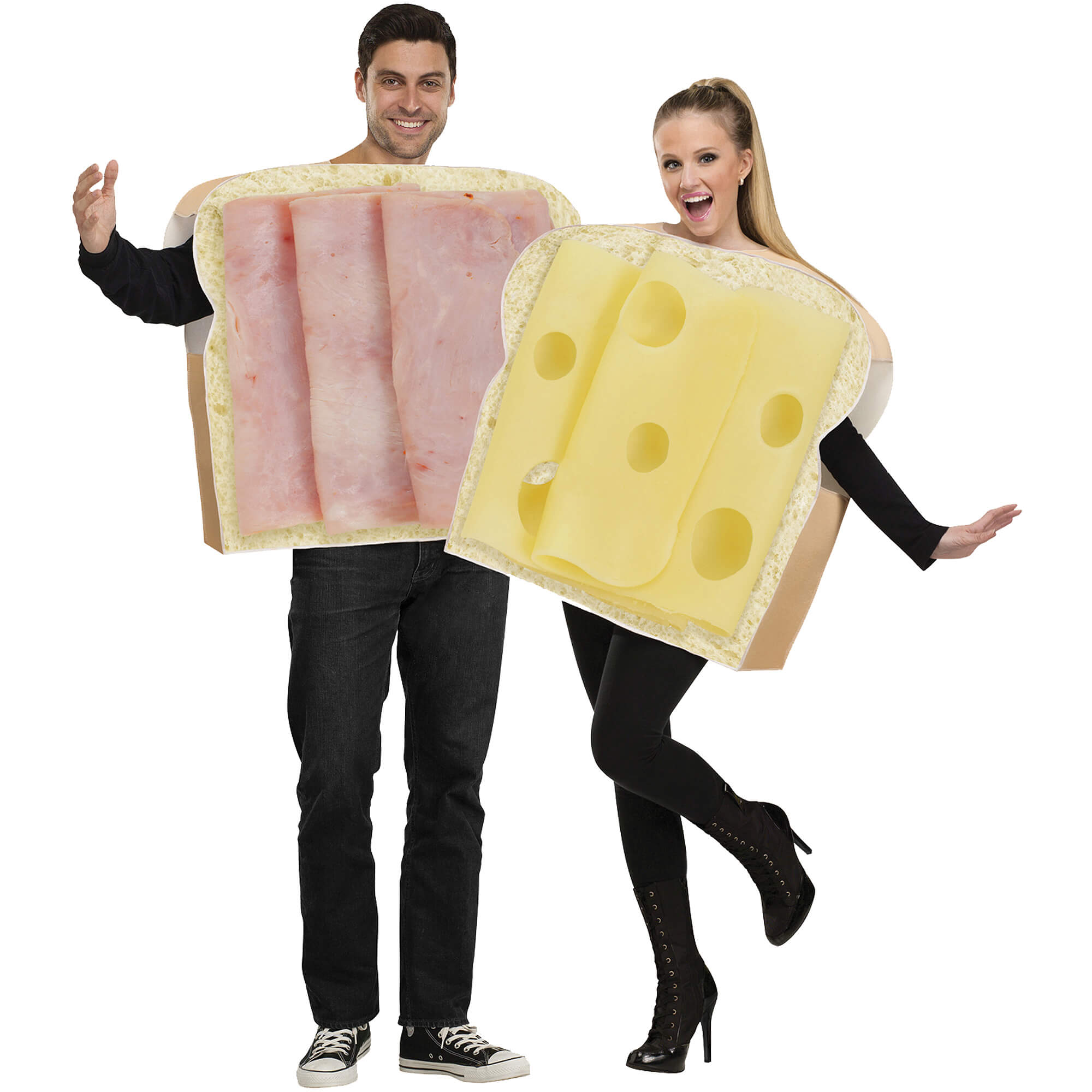 ham and cheese funny halloween costume for couple