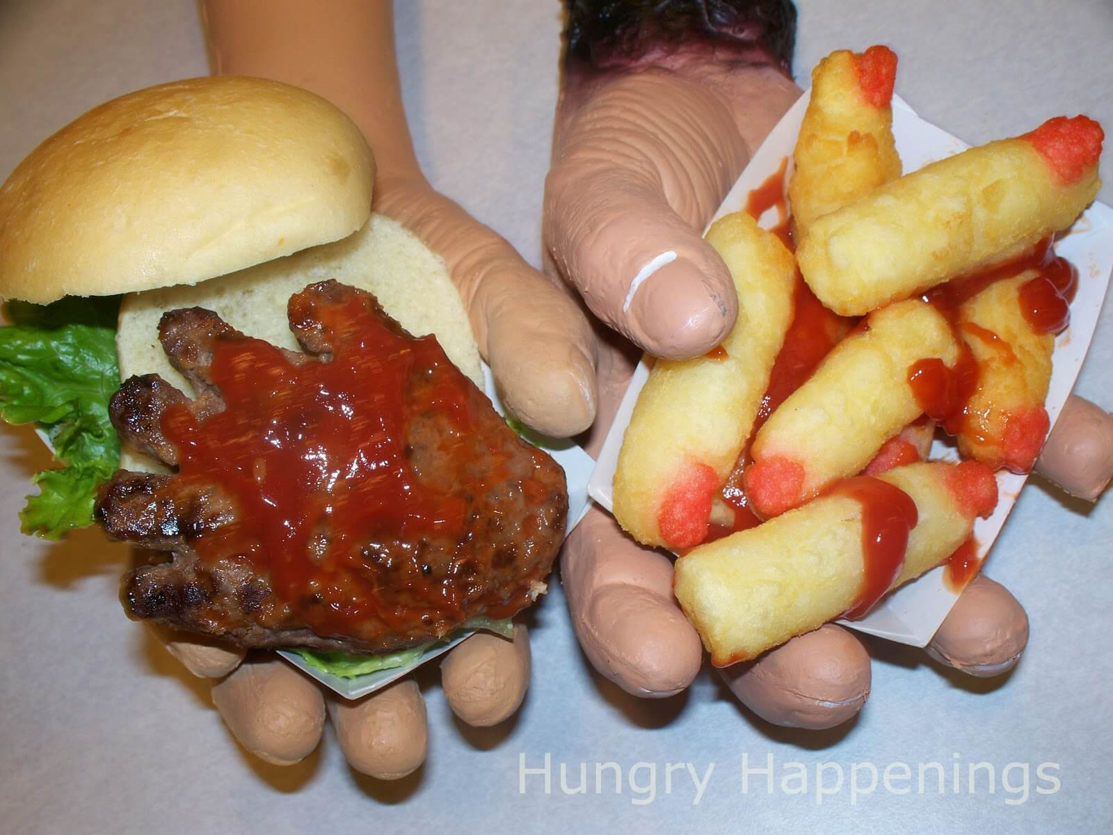 hand burgers and finger fries-halloween-food-ideas