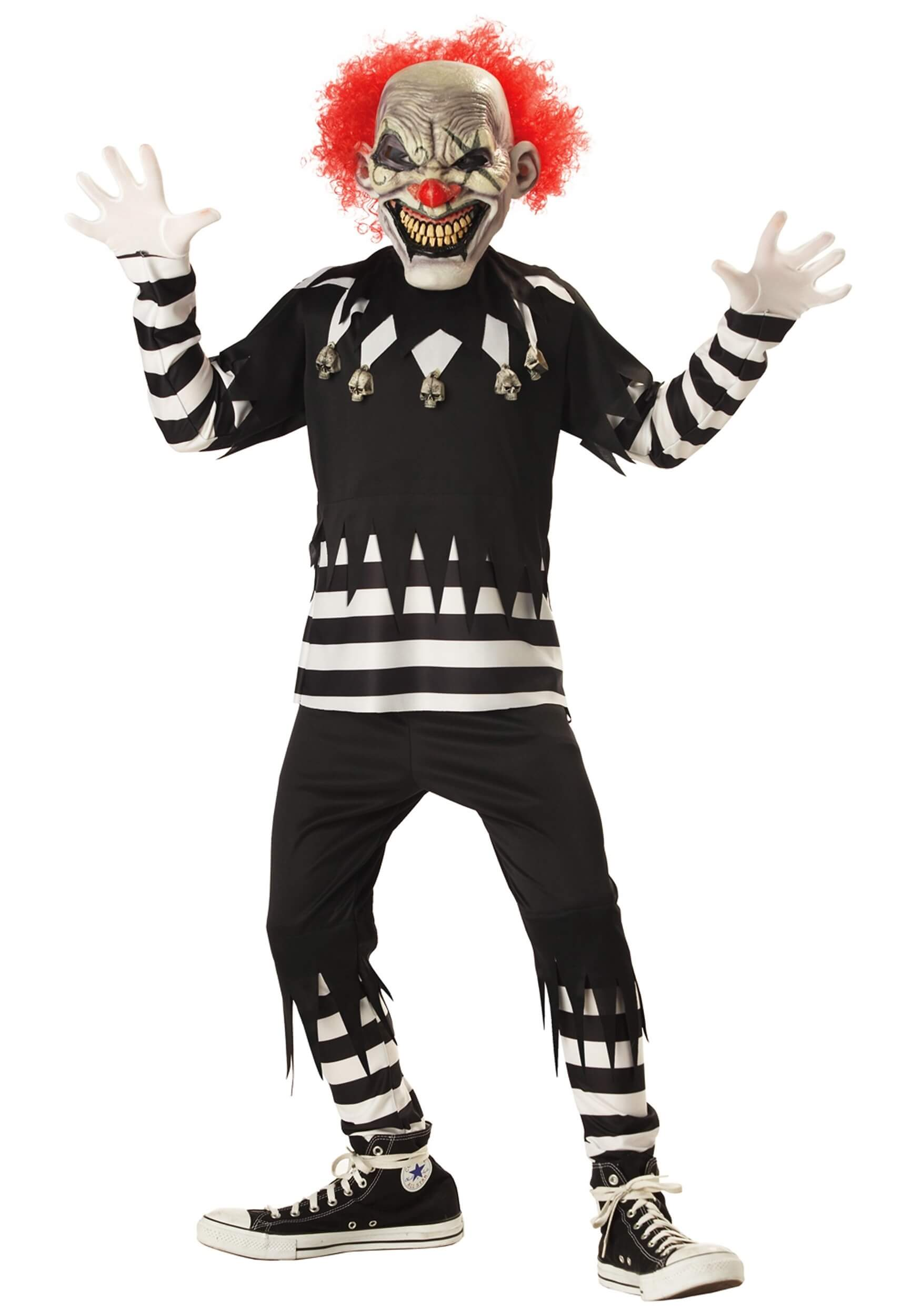 kids psycho clown costume for halloween