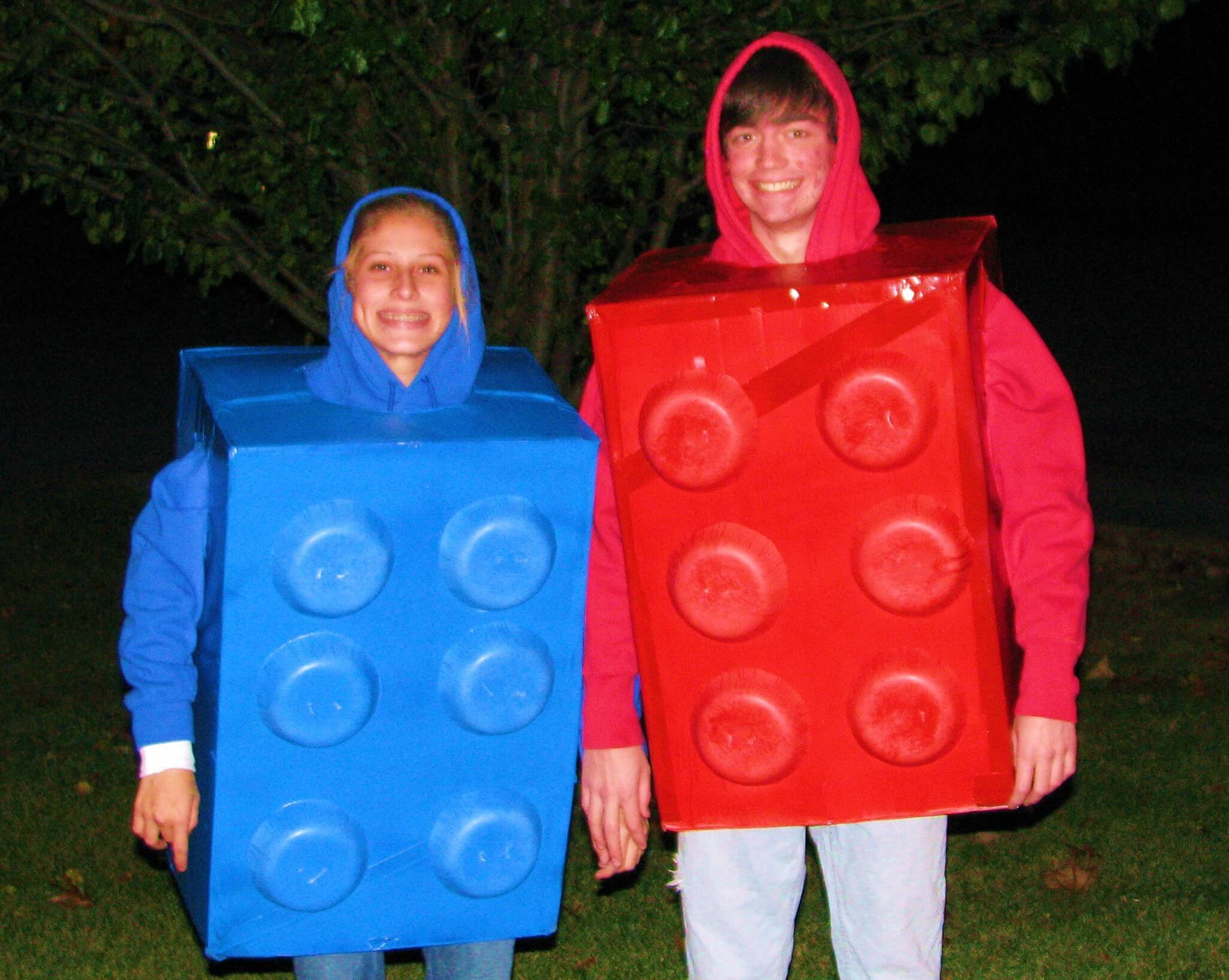 lego building blocks funny halloween costume for couple
