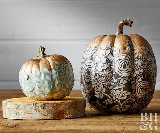 Make these stunning decoupage pumpkins.
