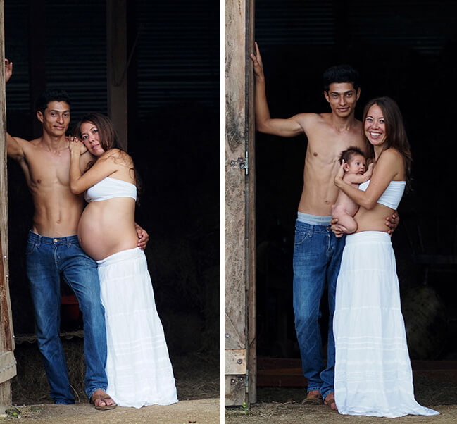Maternity photo ideas with husband