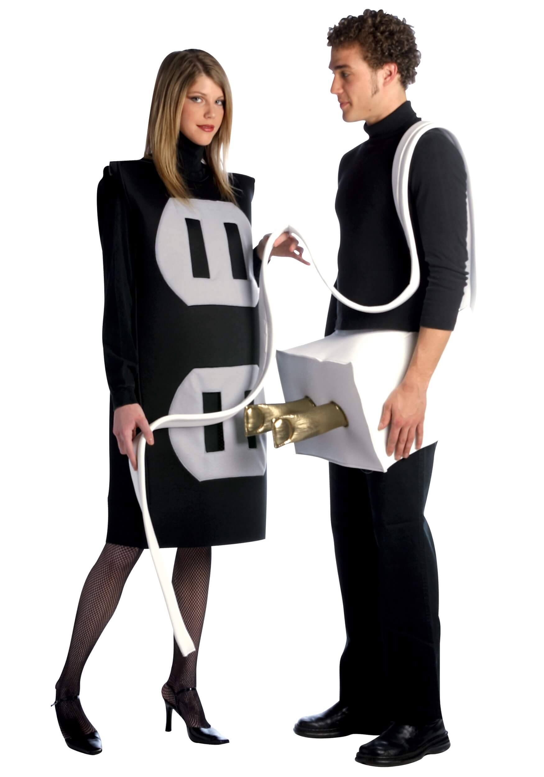 plug and socket funny halloween couple costume