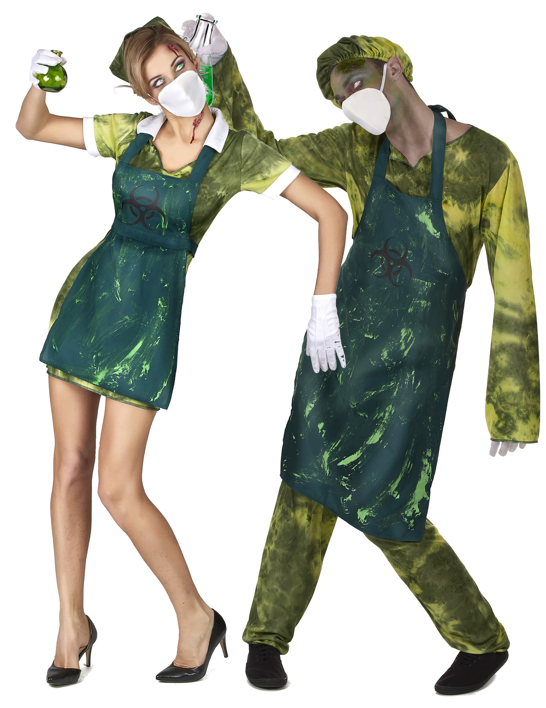 radioactive scientist couple funny halloween costume for couple