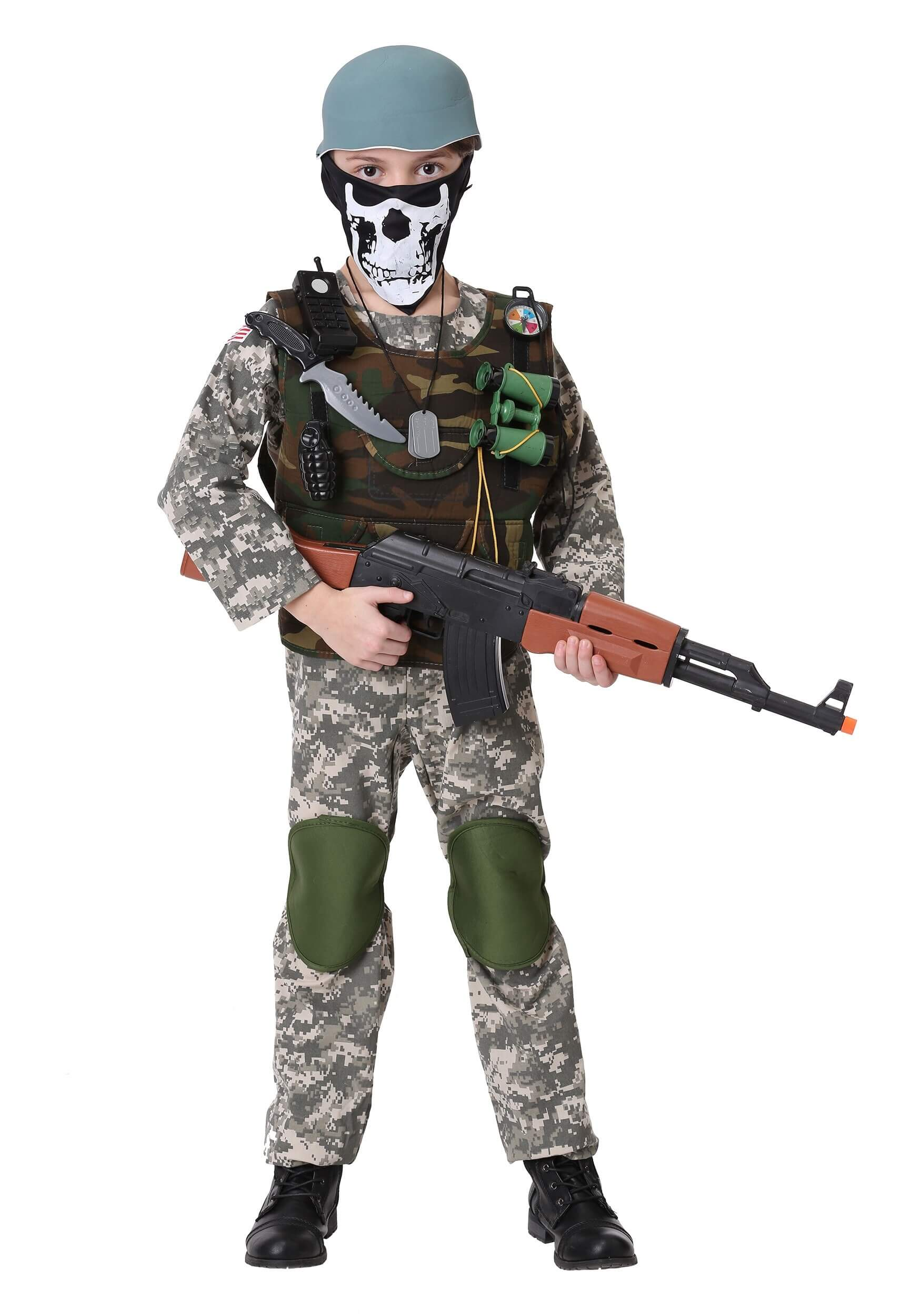 scary camo trooper costume for halloween