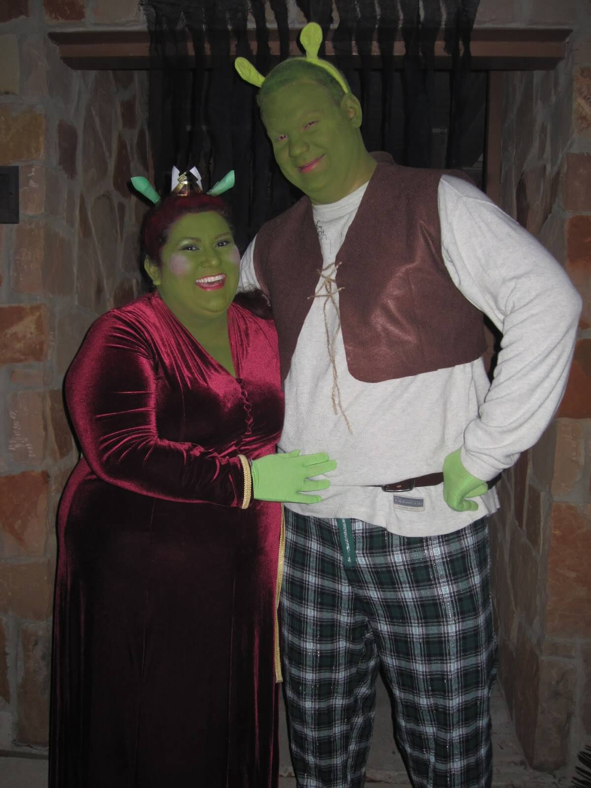 shrek fiona funny halloween costume for couple