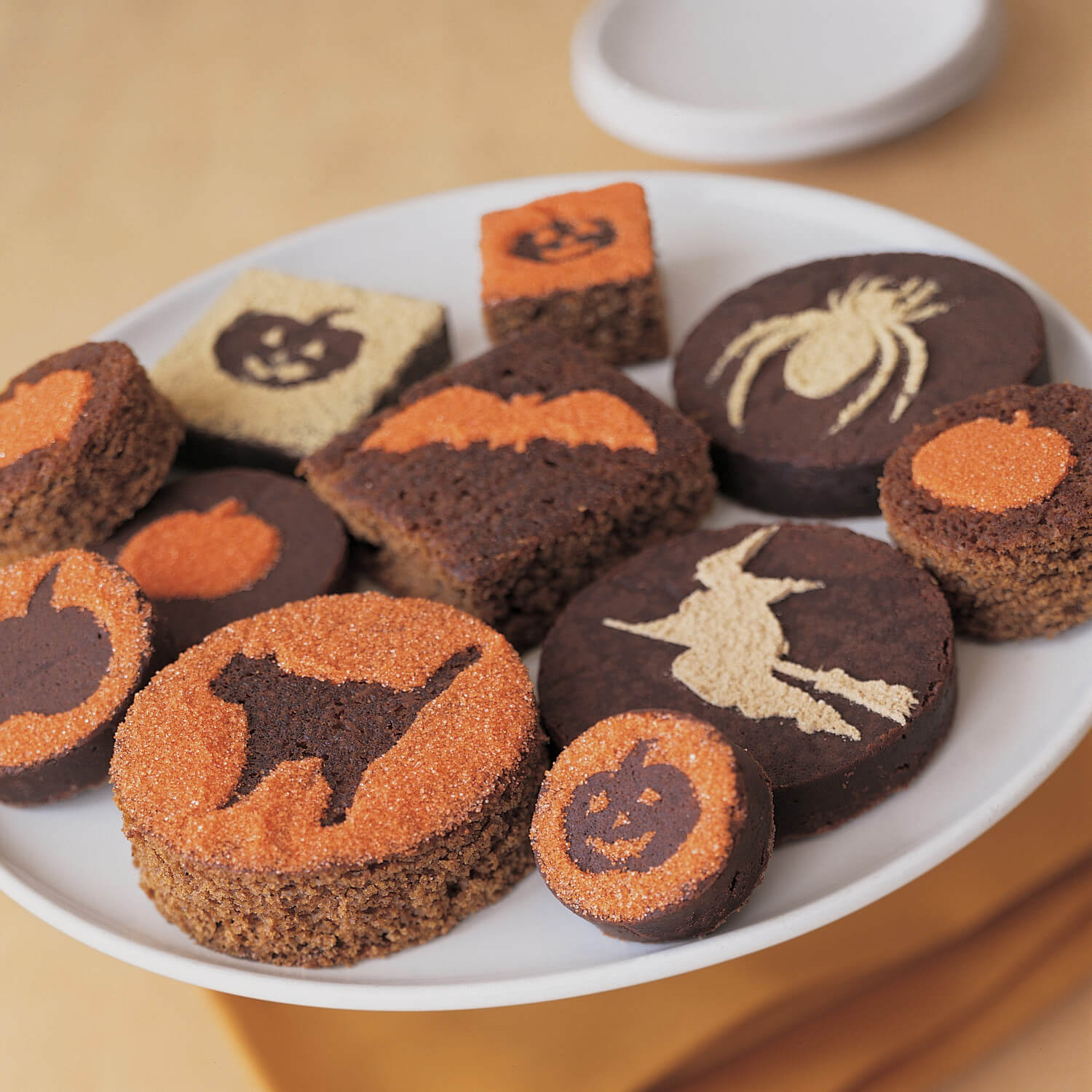 silhouette brownies halloween food ideas