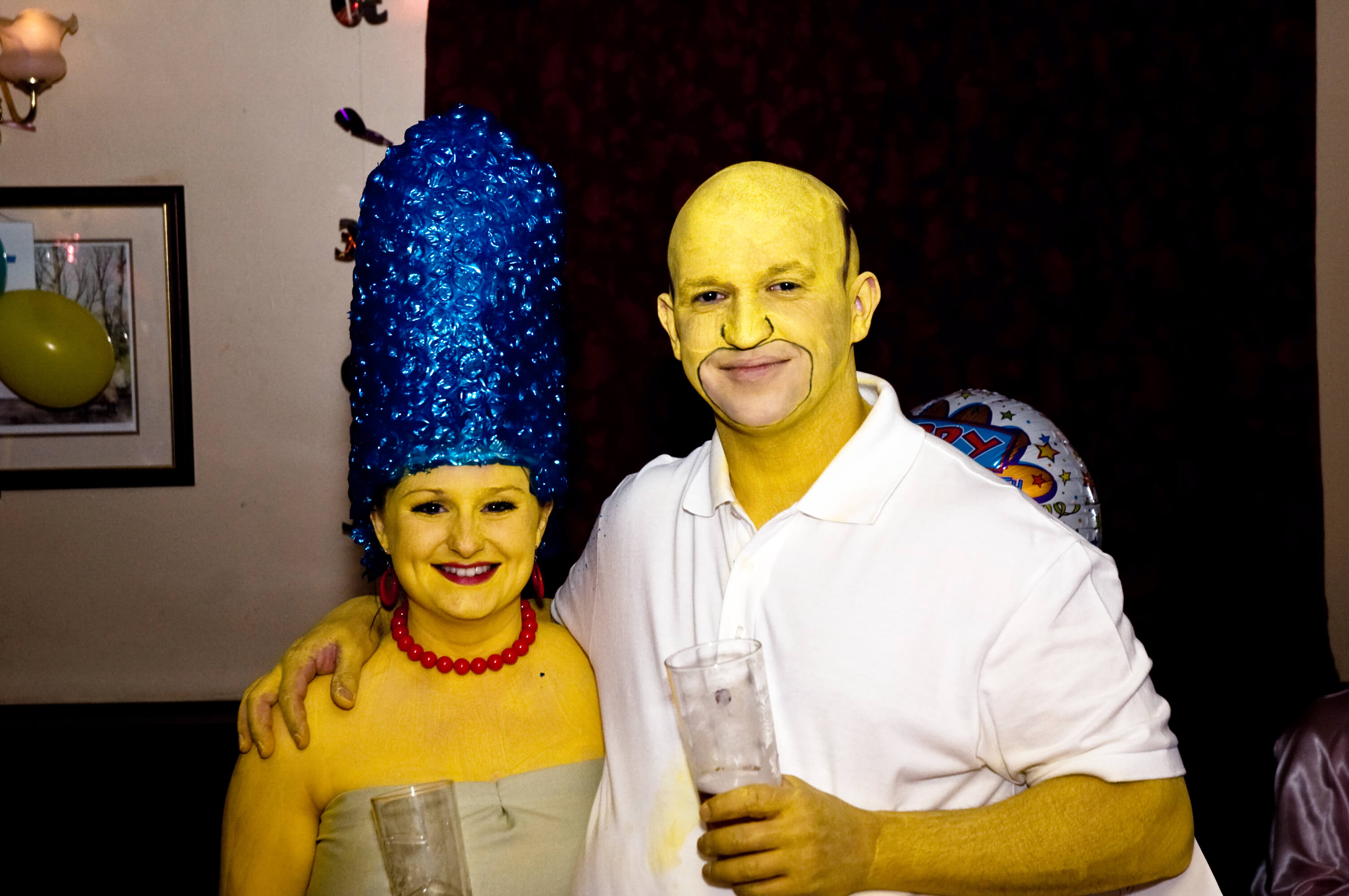 simpsons funny halloween costume for couple