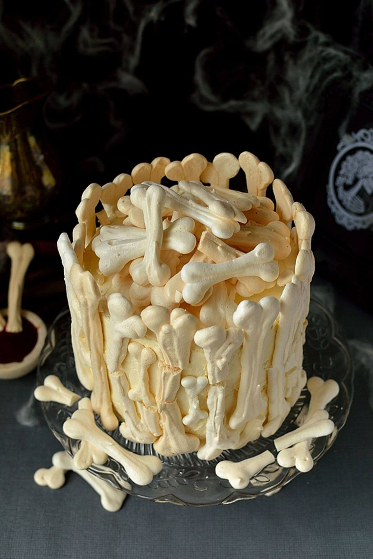 skeleton bone cake halloween food ideas