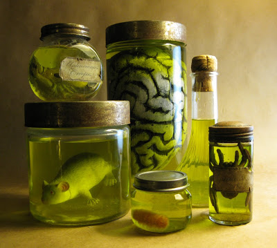 Specimens and jars.