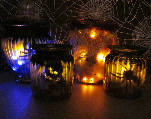 Spooky jar lanterns.