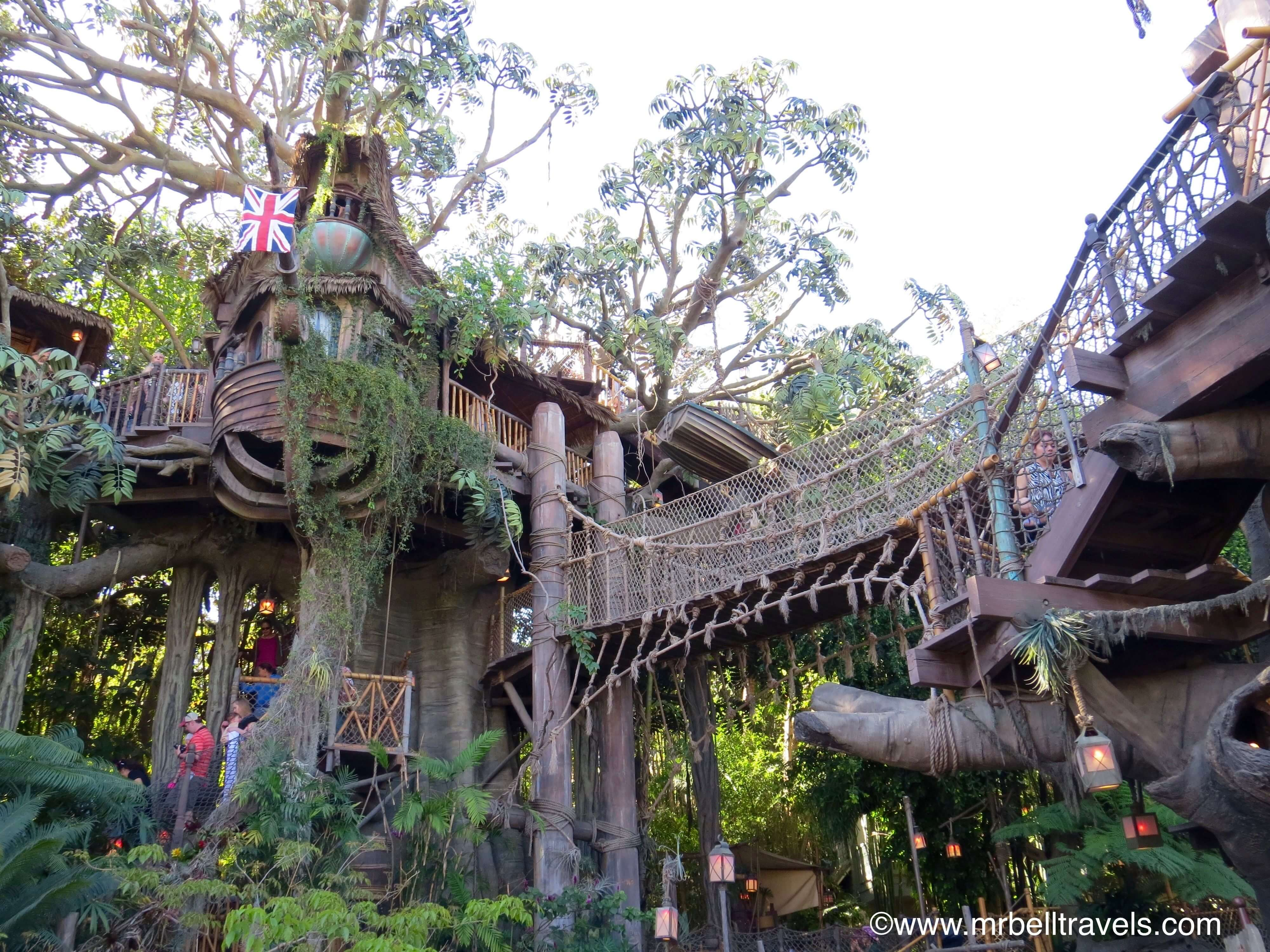 tarzan's tree house Things to do in disneyland