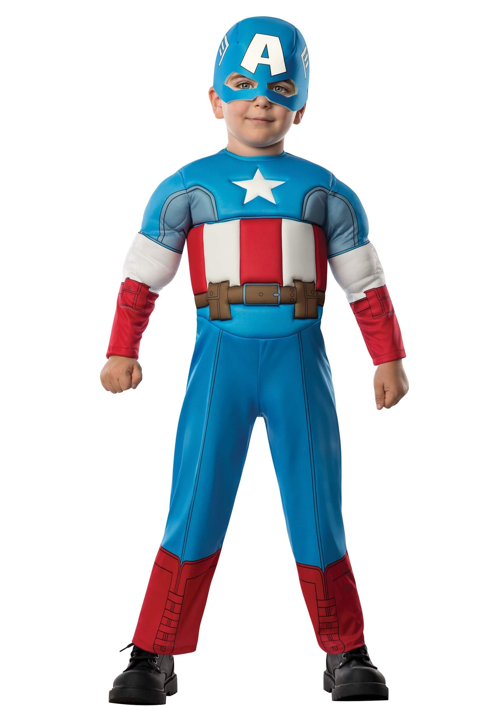 toddler deluxe captain america costume for halloween