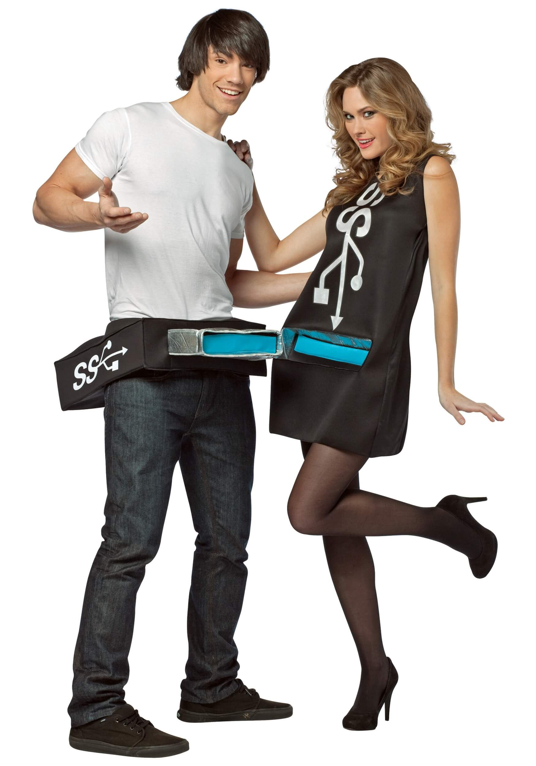 usb port drive funny halloween costume for couple